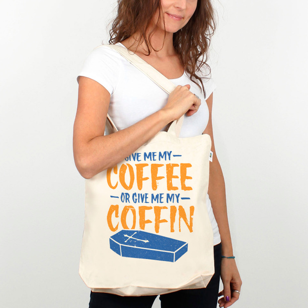 Totebag Coffee or Coffin