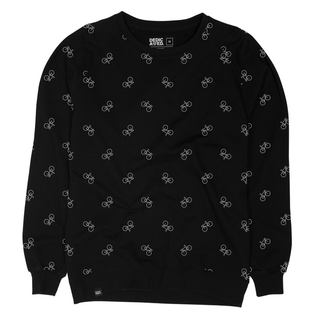 Malmoe Sweatshirt Bike Pattern