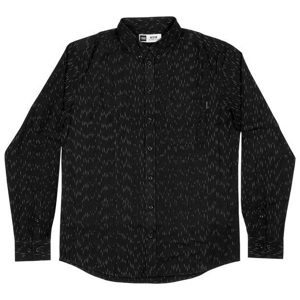 Varberg Shirt Handloom Rain Black