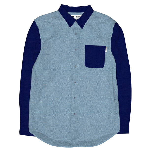 Varberg Shirt Contrast Chambray